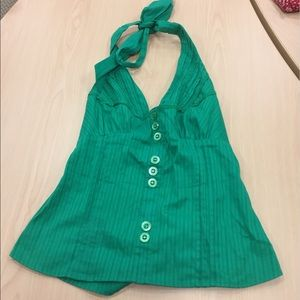 XOXO green halter tank top